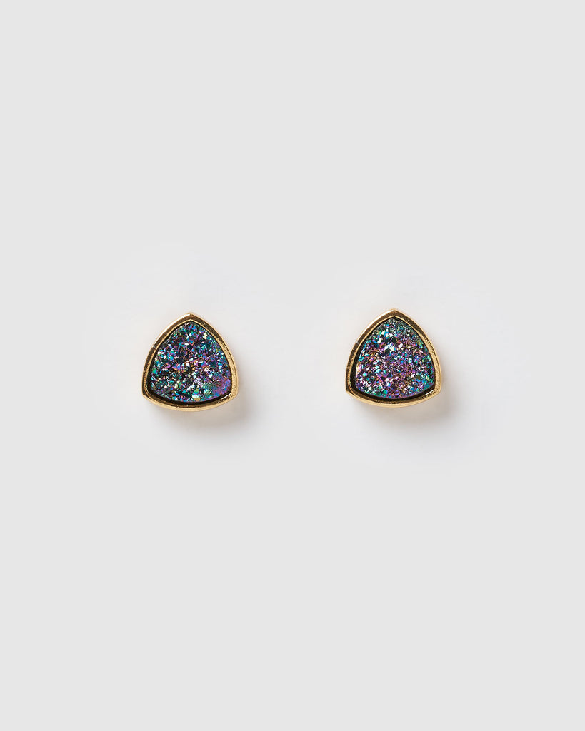 Miz Casa & Co Riley Stud Earrings Gold Purple Green