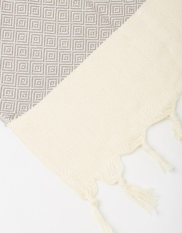 Miz Casa & Co Santorini Turkish Towel Grey