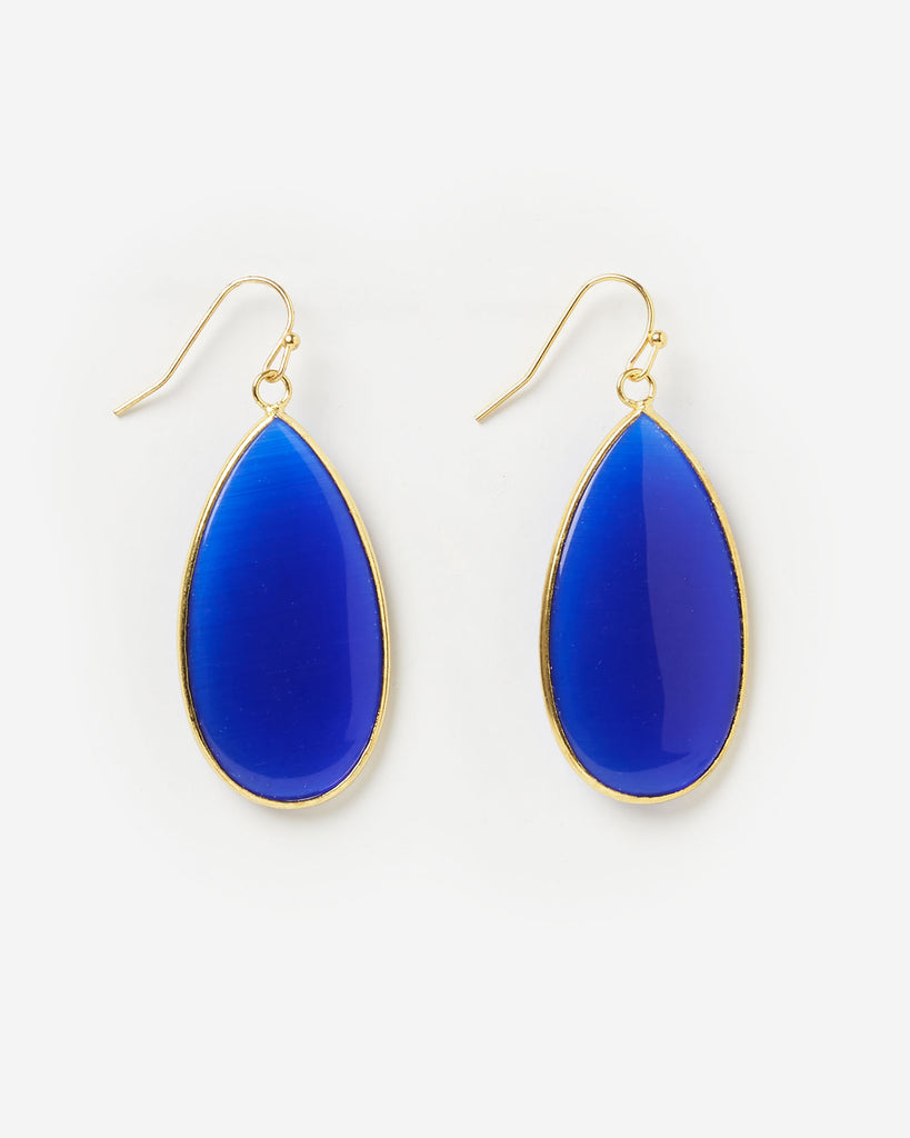 Miz Casa & Co Sea Petal Earring Blue Lapis Gold