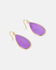 Miz Casa & Co Sea Petal Earrings Purple Gold