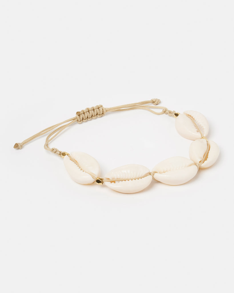 Miz Casa & Co Sea Shell Bracelet White