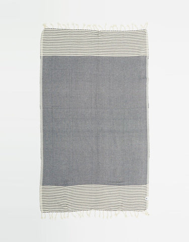 Santorini Turkish Towel Black