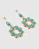 Miz Casa & Co Sunflower Earrings Turquoise Gold