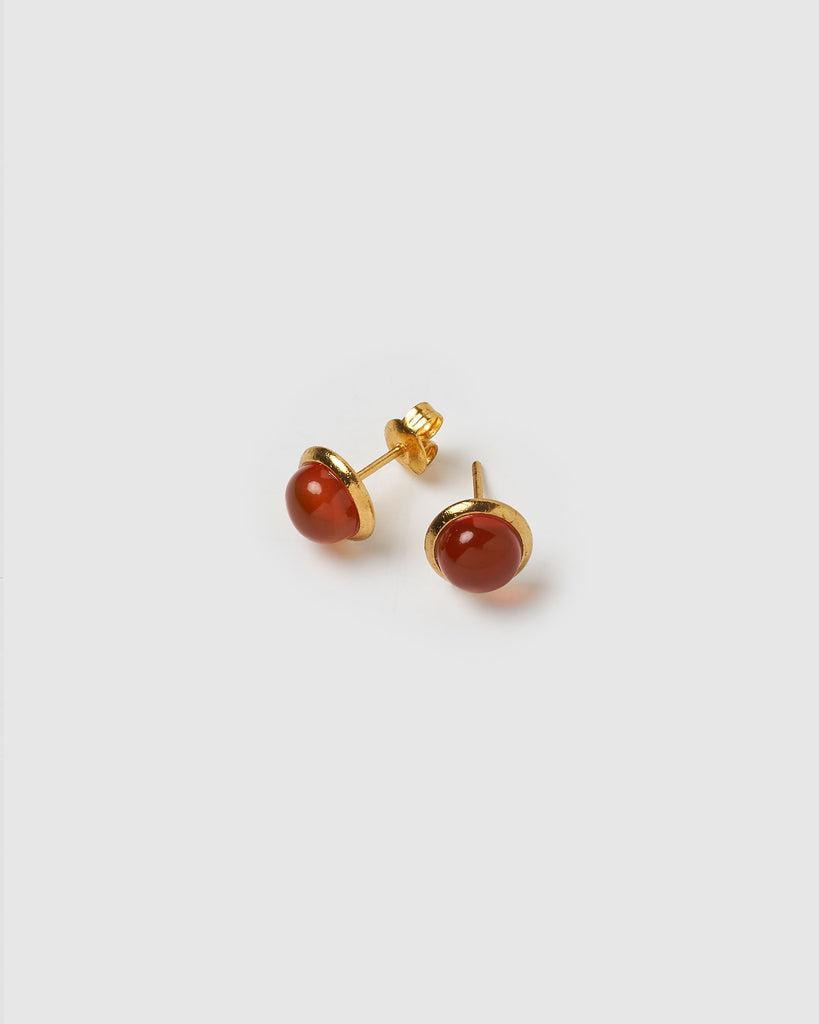 Miz Casa & Co Sunlit Stud Earrings Red Gold