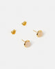 Miz Casa & Co Sunlit Stud Earrings Rose Quartz Gold