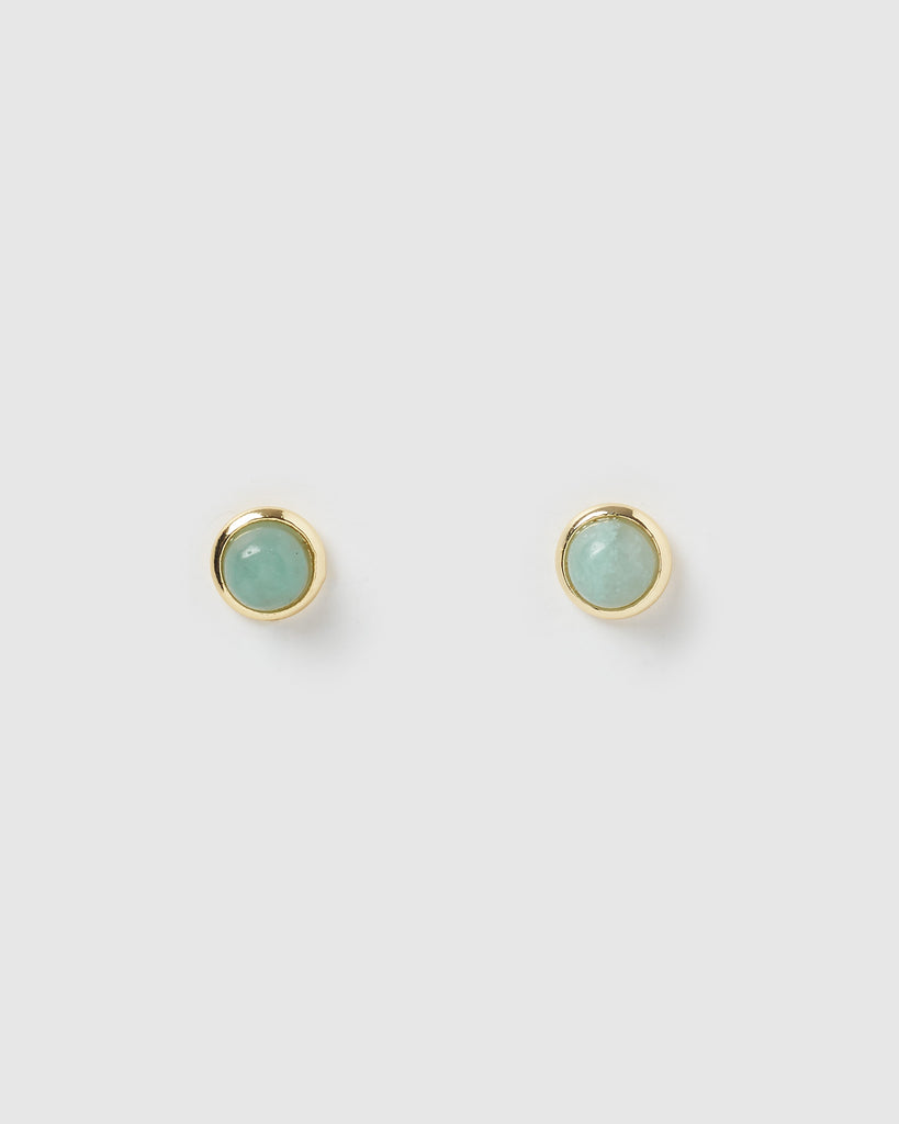 Miz Casa & Co Sunlit Stud Earrings Jade Gold