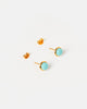 Miz Casa & Co Sunlit Stud Earrings Turquoise Gold