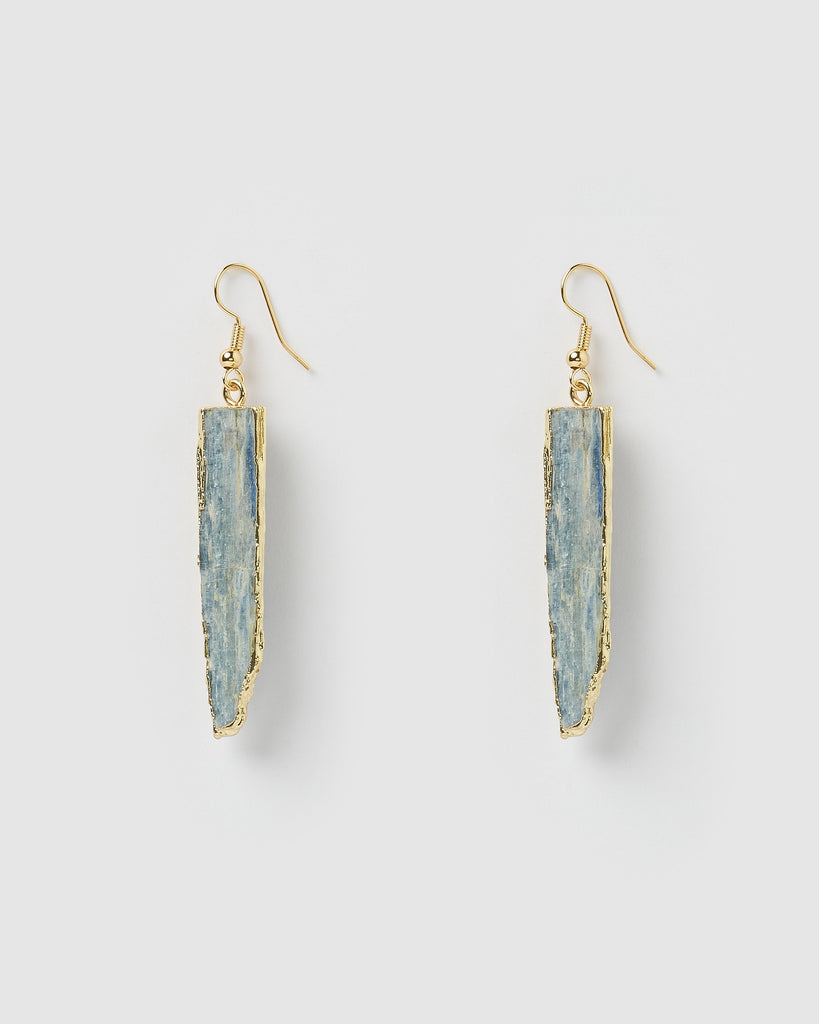 Miz Casa & Co Selira Drop Earrings Blue Kyanite