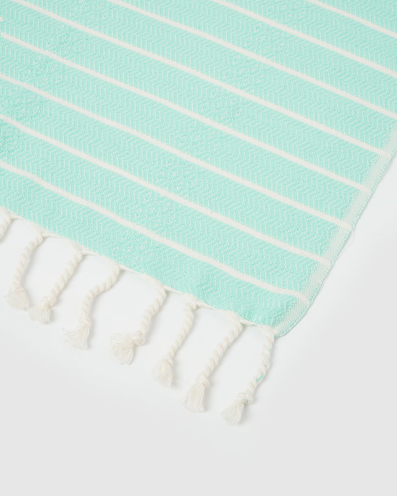 Miz Casa & Co Serento Mint Turkish Towel
