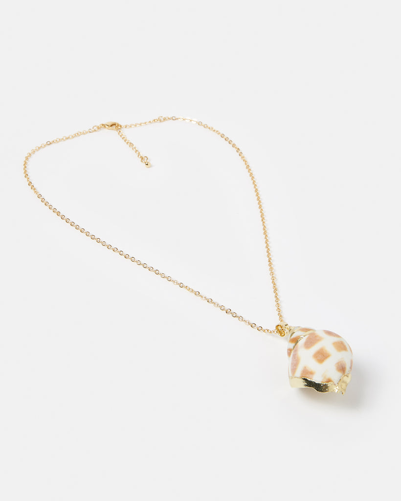 Miz Casa & Co Tahiti Shell Necklace Gold