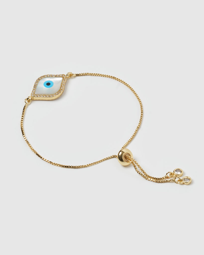 Miz Casa & Co Time Keeper Bracelet Gold Pearl