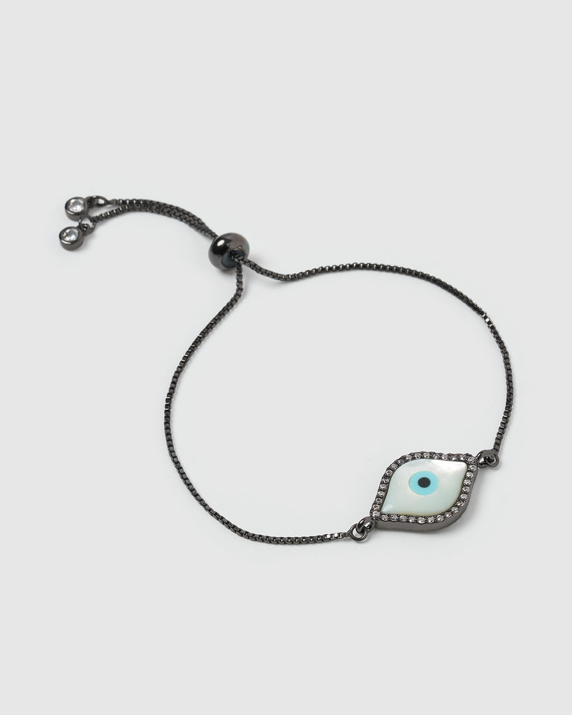 Miz Casa & Co Time Keeper Bracelet Gunmetal Pearl