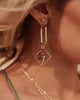 Miz Casa & Co Truth Seeker Earrings Gold Amethyst