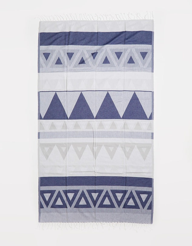 Miz Casa & Co Venice Turkish Towel Navy