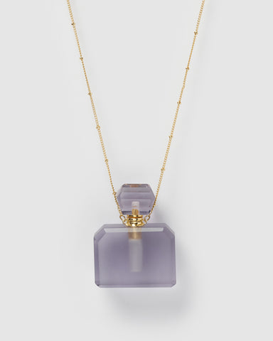 Miz Casa & Co Mini Enchant Necklace Perfume Bottle Amethyst