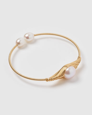 Miz Casa & Co Juliana Cuff Bracelet Gold Pearl