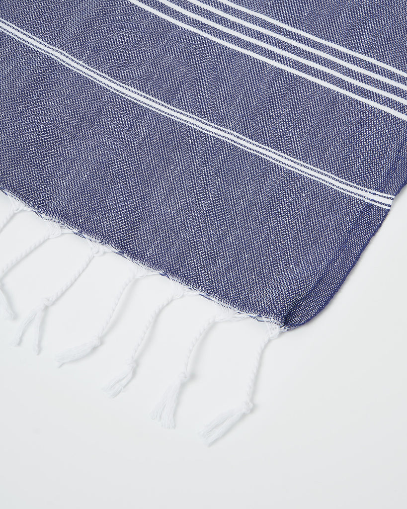 Miz Casa & Co French Riviera Turkish Towel Navy
