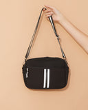 Miz Casa & Co Lola Crossbody Neoprene Bag Black