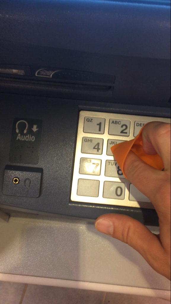 Door Opener works on ATM machine buttons