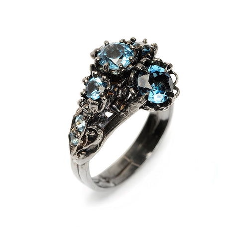 Art Nouveau II Ring London Blue Topaz