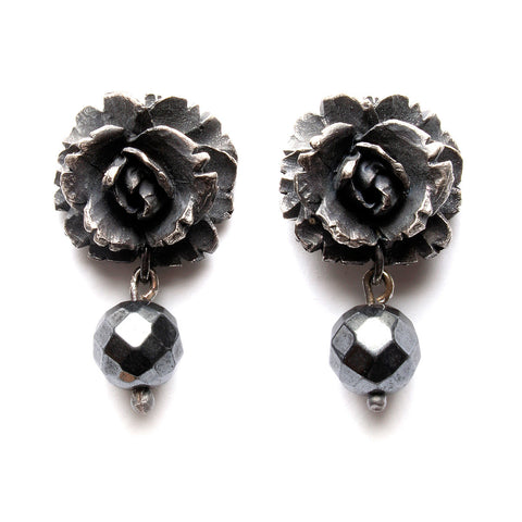 Blood Rose Studs