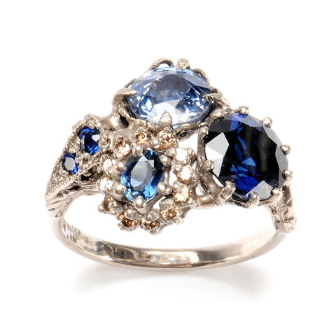 Triple Cluster Ring Blueberry