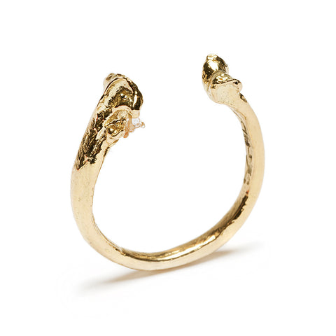 Bone Ring Gold