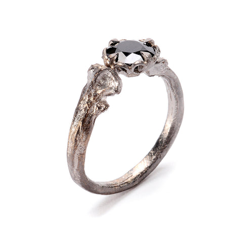 Bone Ring Large Solitaire
