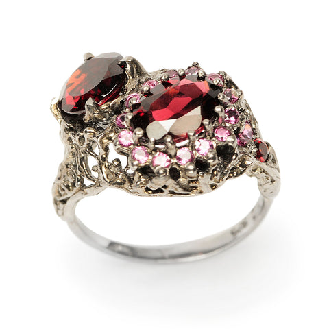 Dark Forest Ring Garnet