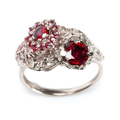 Deco Ring White Gold Ruby