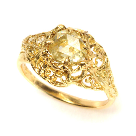 Deco Mini Ring Yellow Diamond