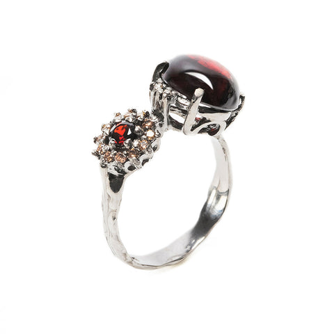 Double Eclipse Ring Garnet