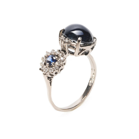 Double Eclipse Ring Sapphire