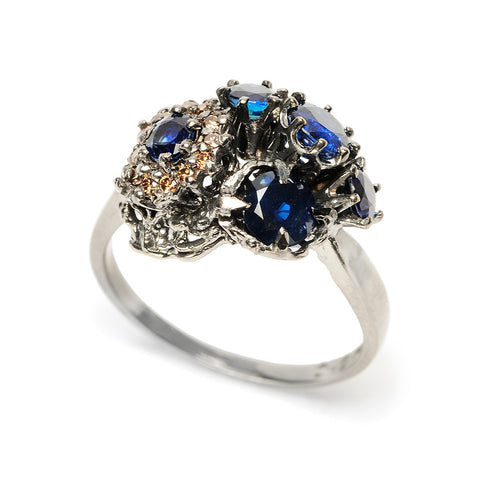 Explosion Ring Sapphire