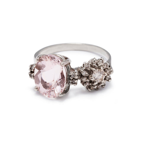 Double Eclipse Ring Morganite