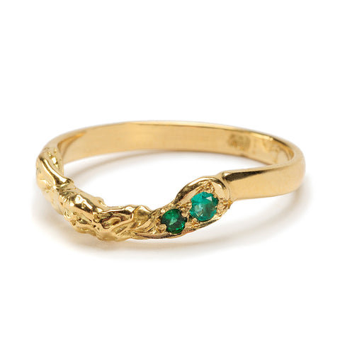 Monarchy Wedder Gold Emerald