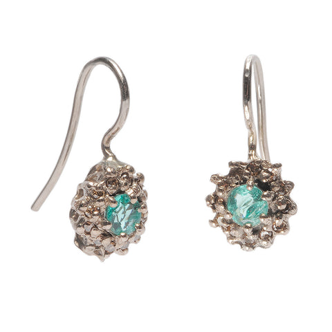 Mourning Earrings Emerald