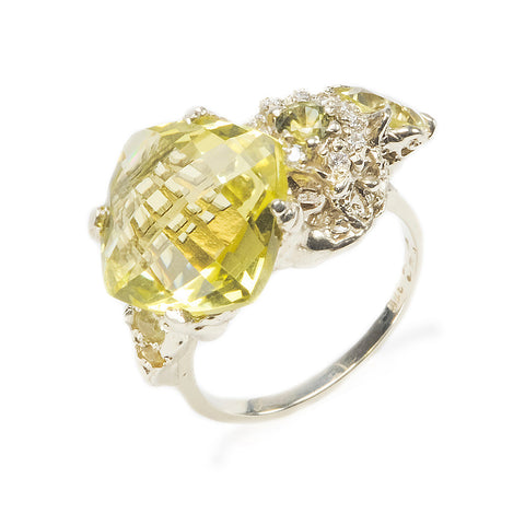 The Other Shore Ring White Gold Lemon Quartz