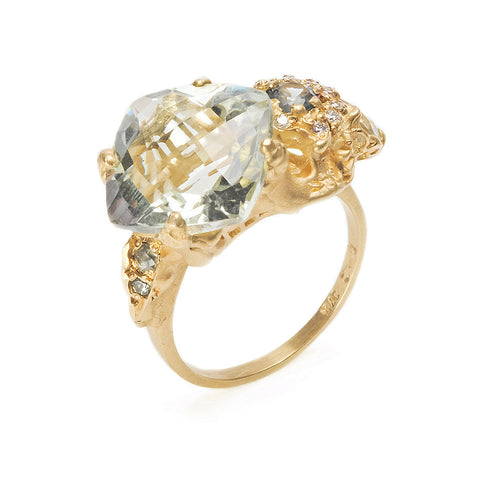 The Other Shore Ring Gold Mint Quartz