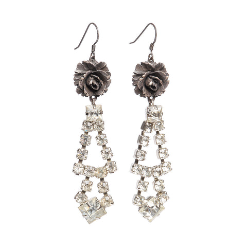 Rose & Diamond Earrings