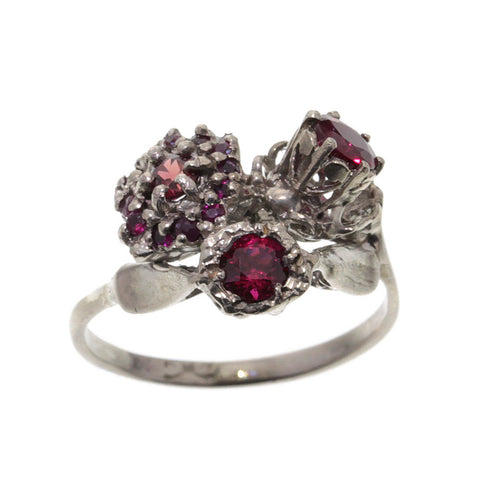 My Three Engagements Ring Variation White Gold Ruby