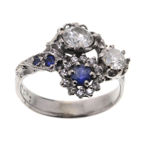 Triple Cluster Ring Diamond