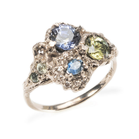 Triple Cluster Ring Sapphire