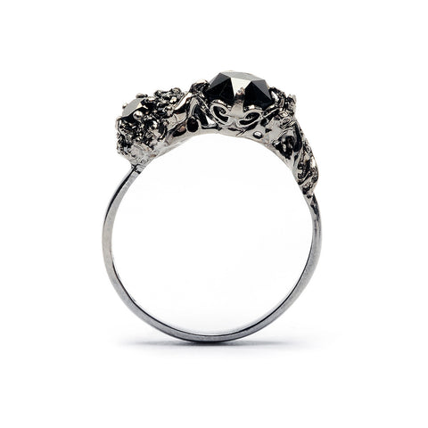 deVille Mourning Ring II Black Diamond