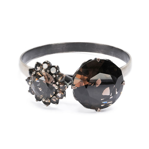 deVille Mourning Ring Bangle Smoky Quartz