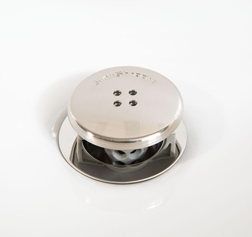 SinkShroom fitted on a sink drain
