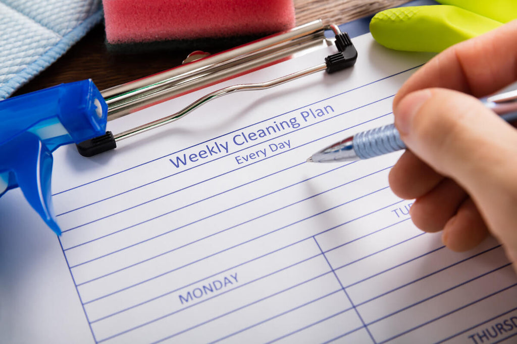 Kitchen cleaning tips: Weekly Cleaning Form