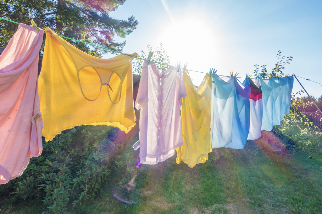 home hacks: clothes hanging to dry