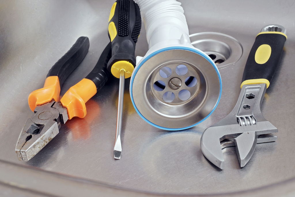 different kinds of tools on the sink