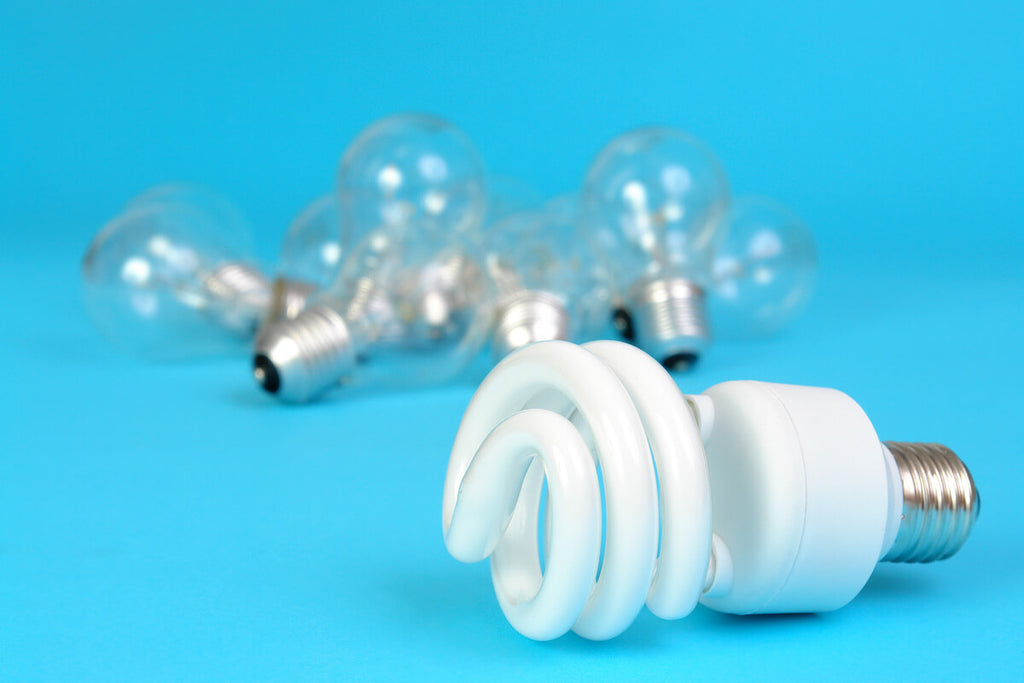 Incandescent and CFL light bulbs